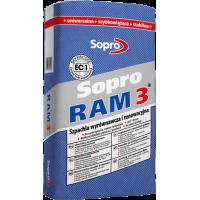 Sopro Ram 3 – Шпатлевка для выравнивания и восстановления во влажных помещениях, 25 кг.